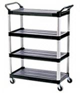 View: Rubbermaid Xtra 4096 4 Shelf Cart
